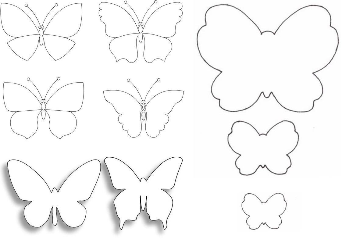 Шаблоны бабочками как сделать 66
