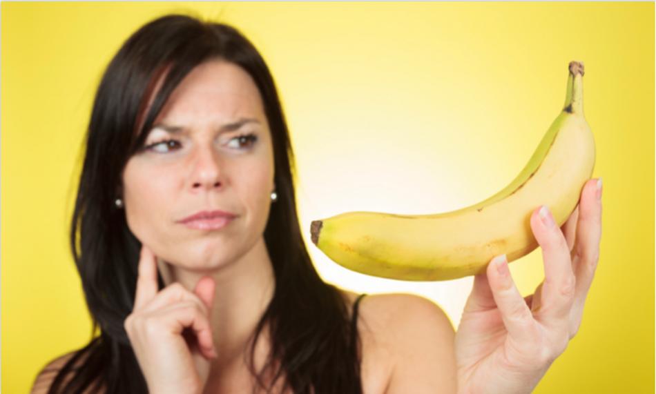Женщины с бананом видео