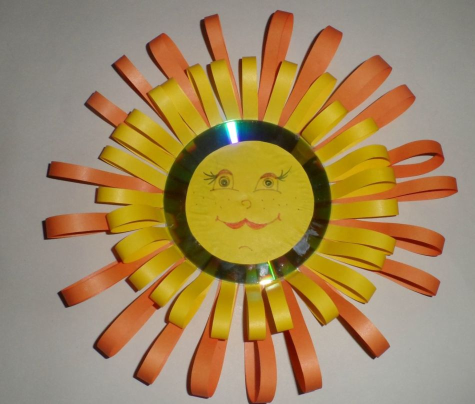 Солнце поделка своими руками в