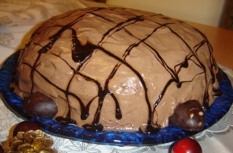 Торт черепашка с пошаговый