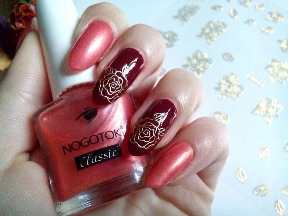 Фото дизайна на ногтях розы Маникюр с розами