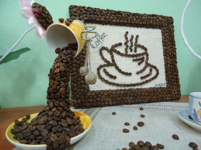 Поделки для кухни из кофейных зерен 17