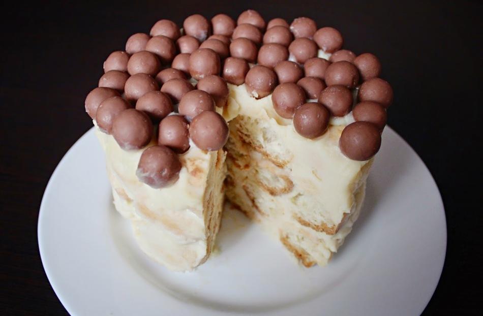 Торт «Наполеон» из слоеного теста с заварным кремом 39