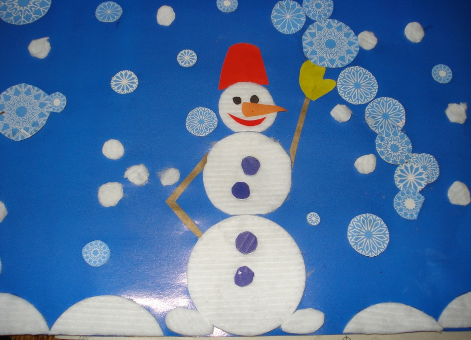 Новогодние поделки своими руками из ваты для детского сада