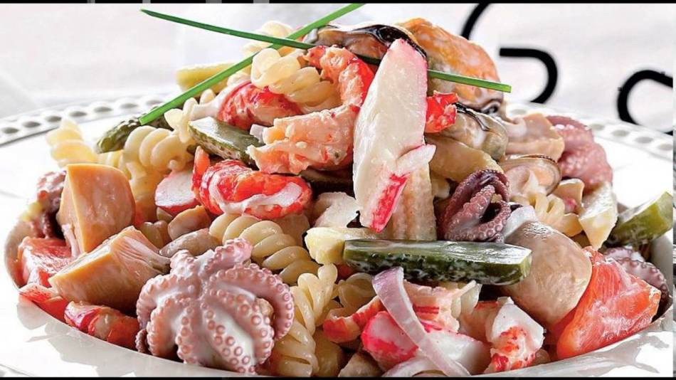 блюда из морского коктейля замороженного