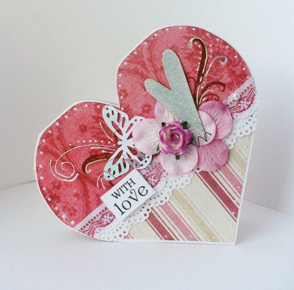 Скрапбукинг открытки валентинки своими руками