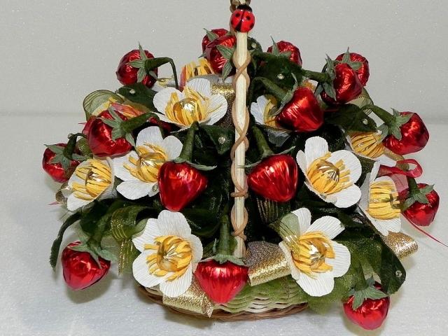 В подарок букет из фруктов своими руками