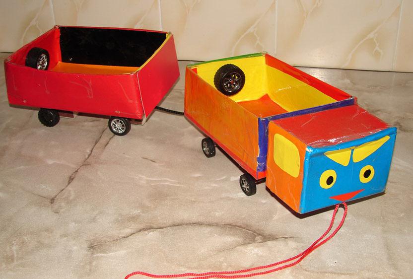 Как сделать машинку из бумаги для детского сада
