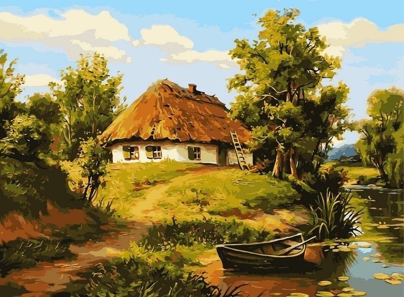Картина по номерам в деревенском стиле