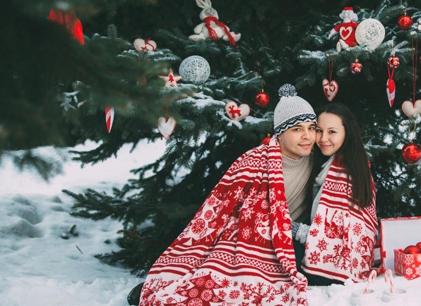 Идея для фото: на улице в снегу