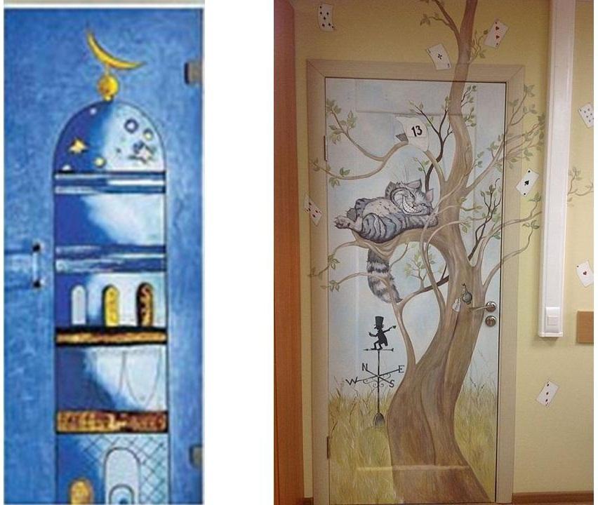 Идеи для декора дверей своими руками 13