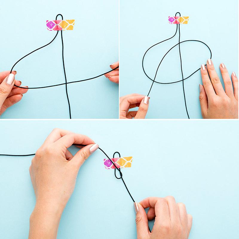 Как сделать джокер на шею из наушников