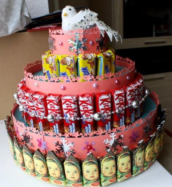 Тортики для детского сада из сока и конфет своими руками фото 51