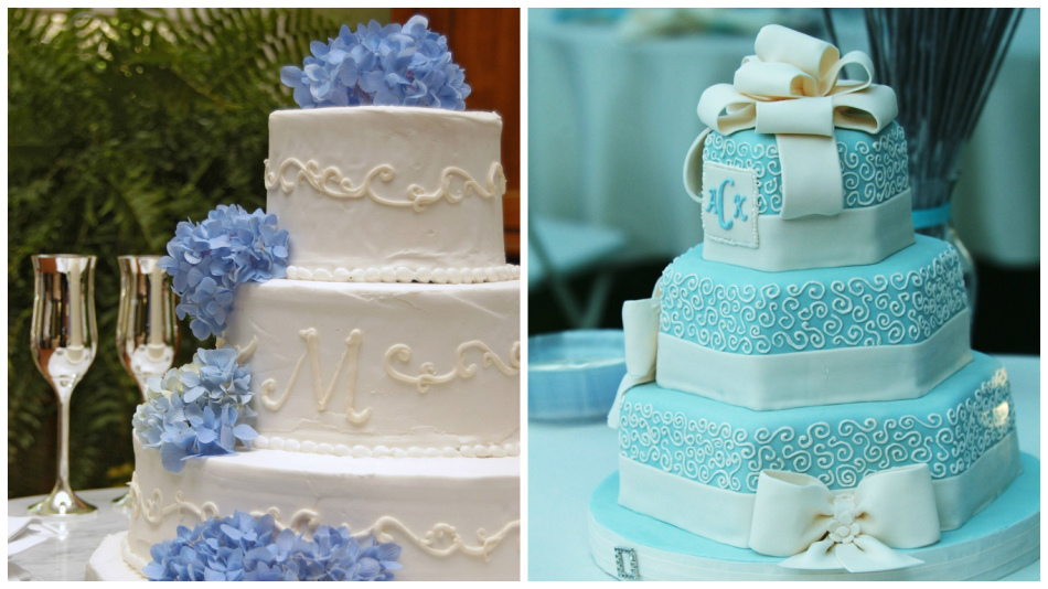 Фото торт голубого цвета