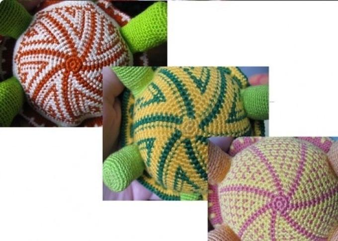 Вариации животиков для вязаной черепашки крючком