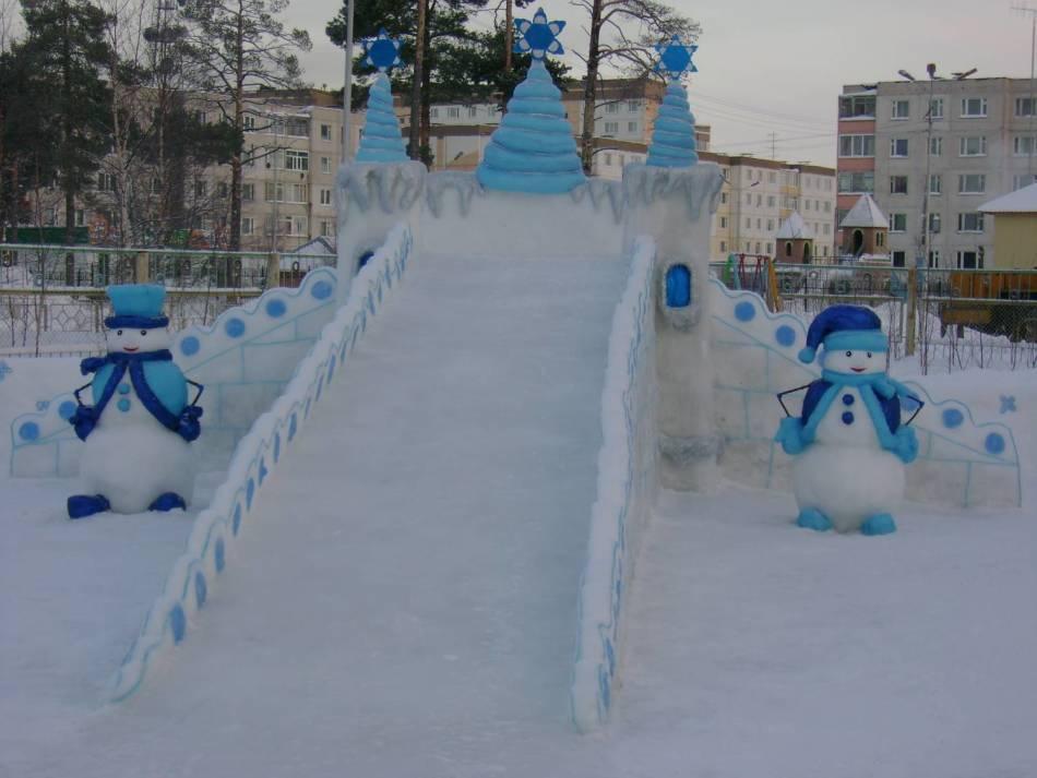 Ледяные горки своими руками 458