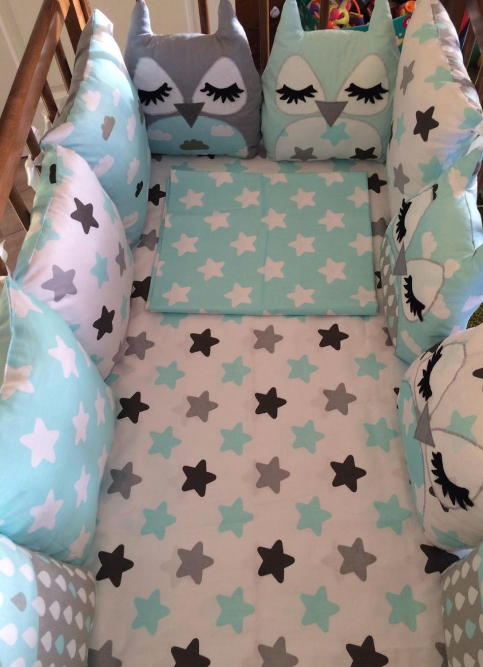 Подушки бортики в кроватку для новорожденных своими руками выкройки фото схемы
