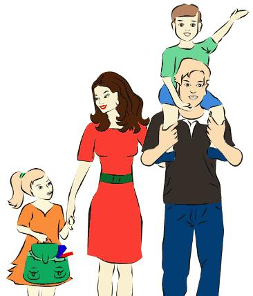 картинки семья рисунки