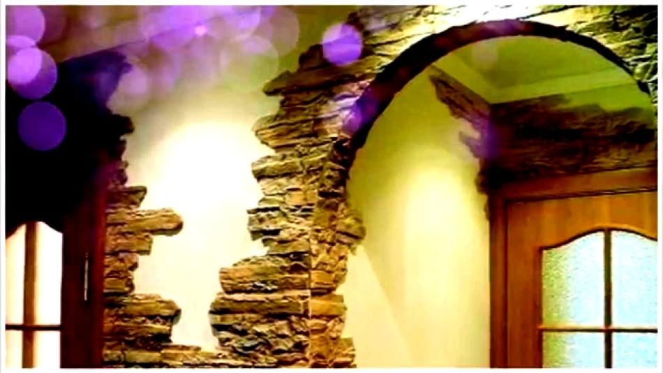 Пример №3 отделки внутренней части дома декоративным камнем из гипса