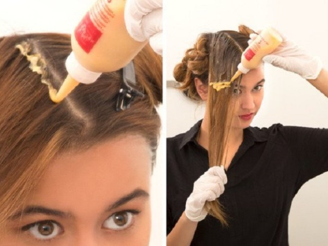 Как перекрасить тёмные волосы в более светлый оттенок? 69