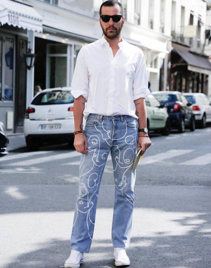 Уличная мужская мода парижа в 2018-2019 году