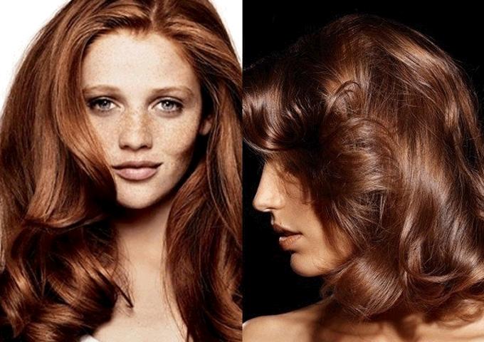 Коричневый цвет волос кому идет