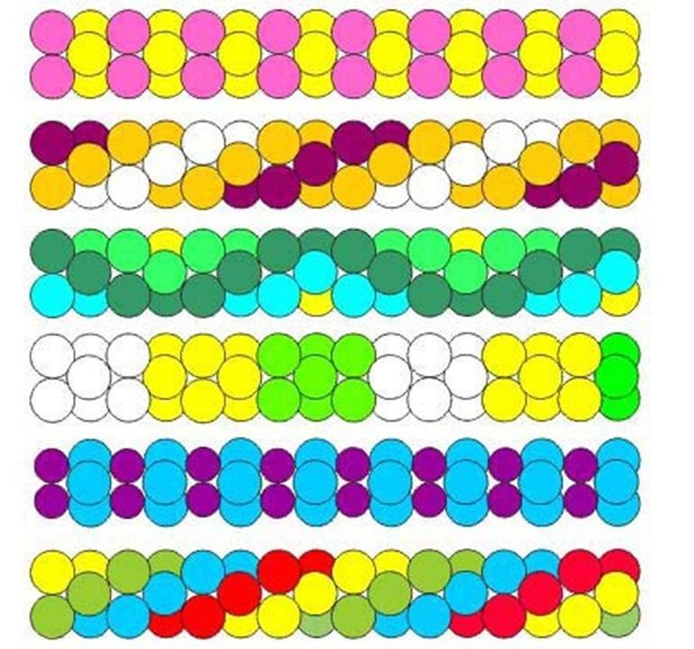 Как сделать трехцветную гирлянду из шаров своими руками 12