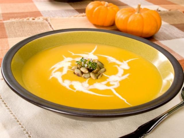 крем суп из тыквы с сыром и сливками
