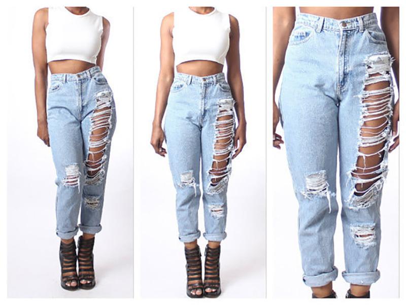 Сексуальные джинсы с дырками