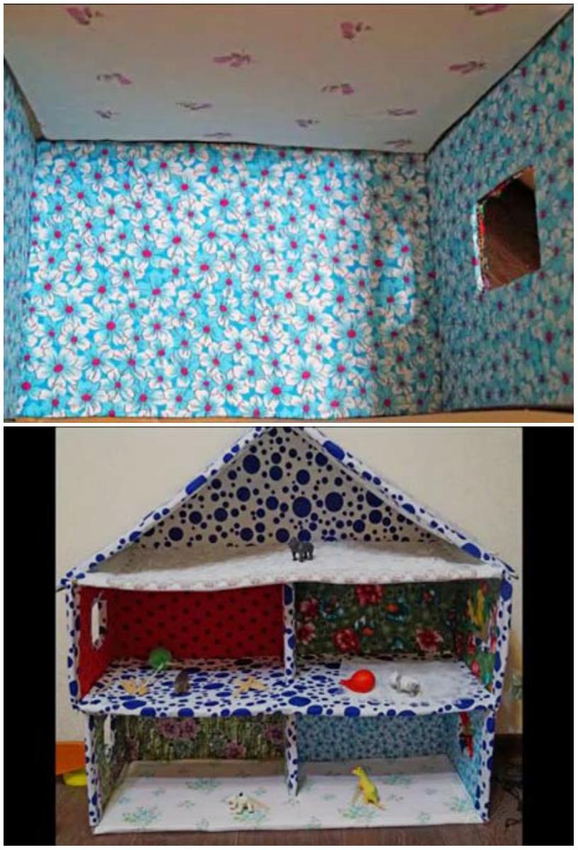 схема сборки детского домика