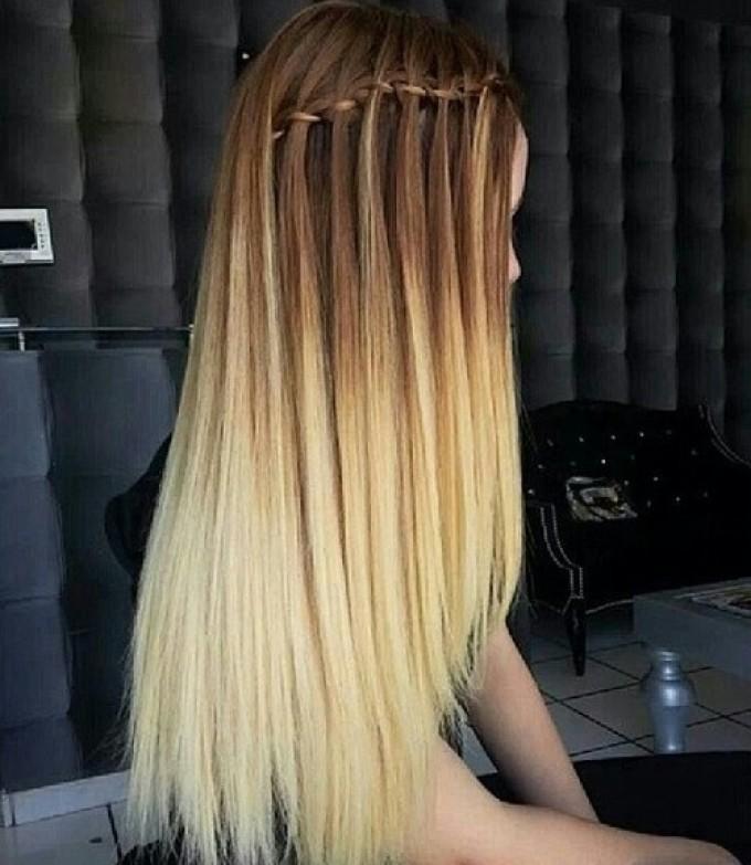 амбре на прямые волосы фото