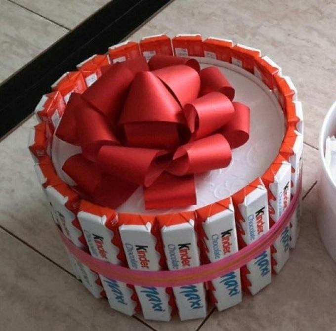Торт из киндеров пошаговое фото для девочки