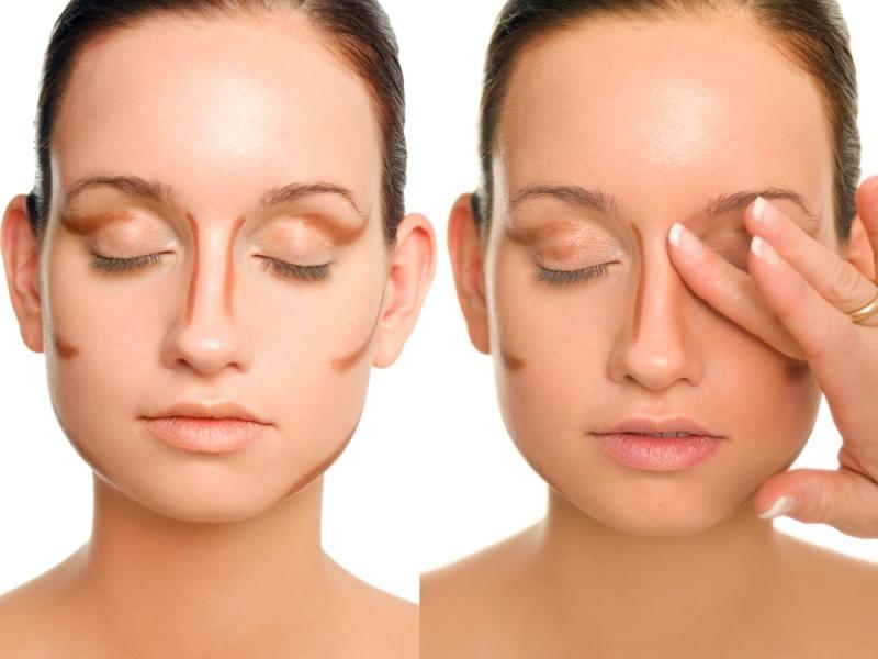 Как сделать макияж чтобы горбинку