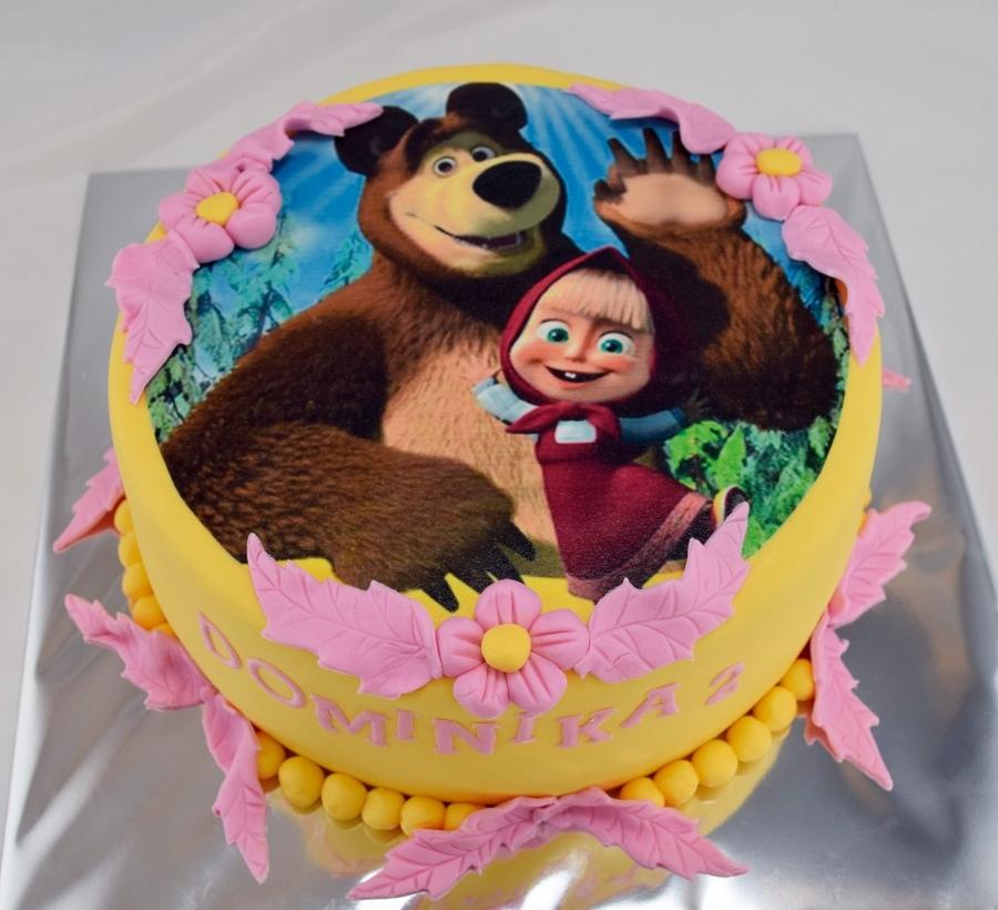 Торт 2 маша и медведь
