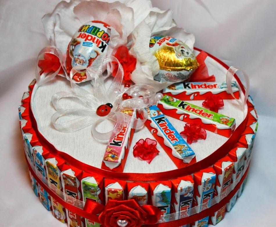 Сделать торт из сладостей своими руками 84
