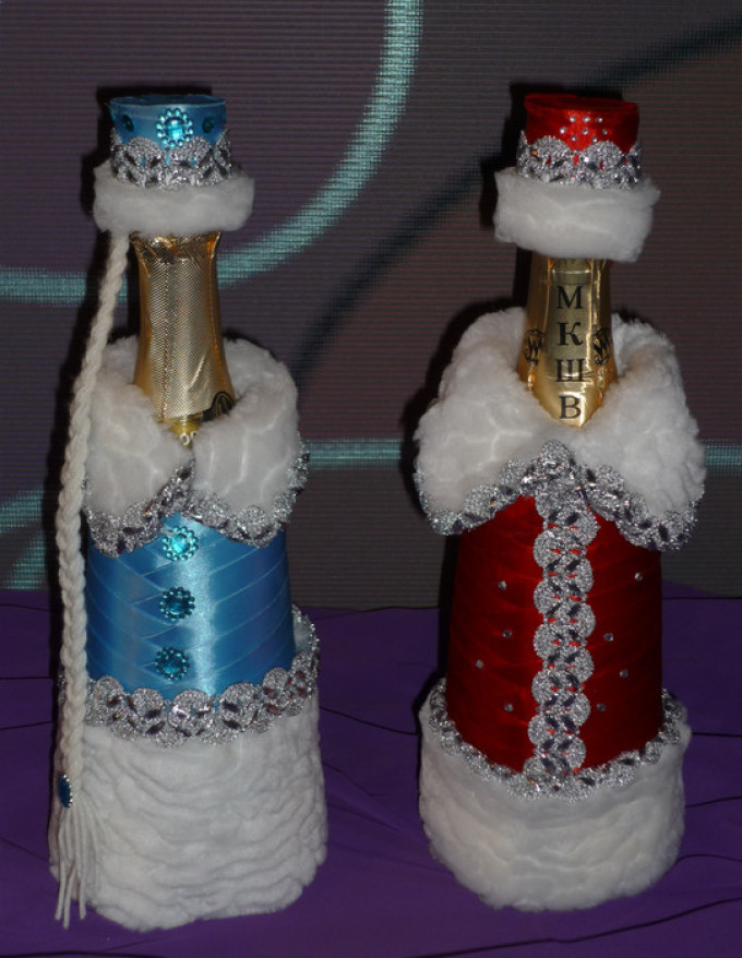 Новогодний костюм на шампанское своими руками
