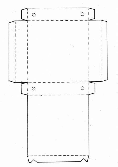 Шаблон коробочки с крышкой
