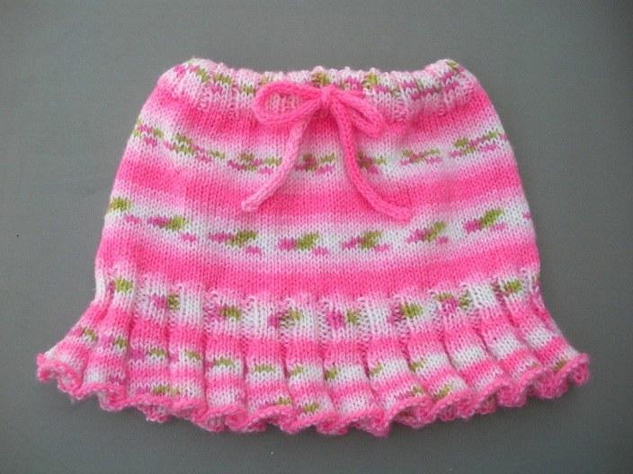 Детские юбки круговыми спицами