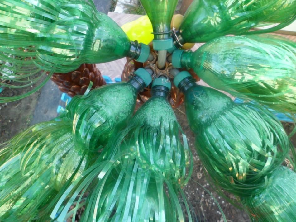 Как сделать пальма из пластиковых бутылок