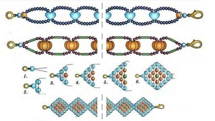 Схемы чокер из бисера