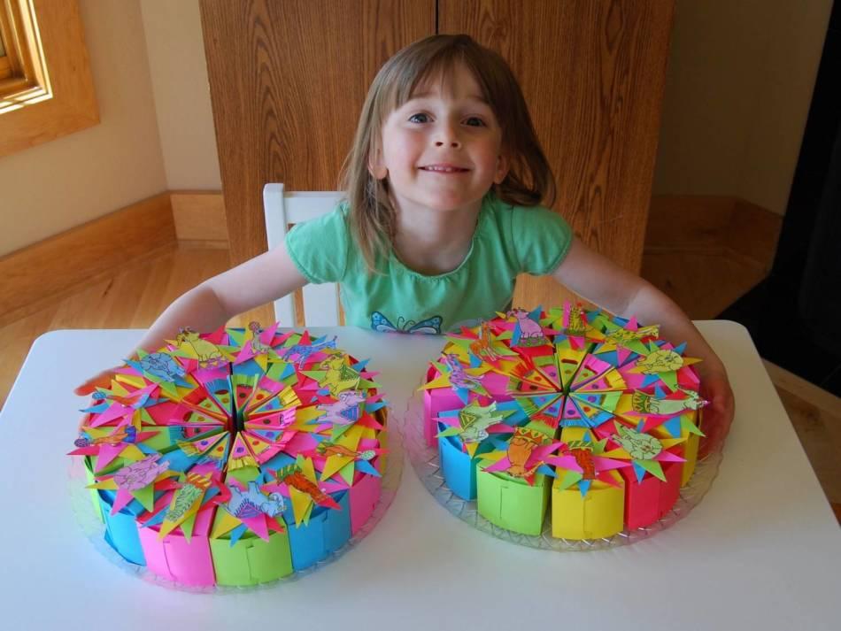 Поделки на день рождения своими руками торт