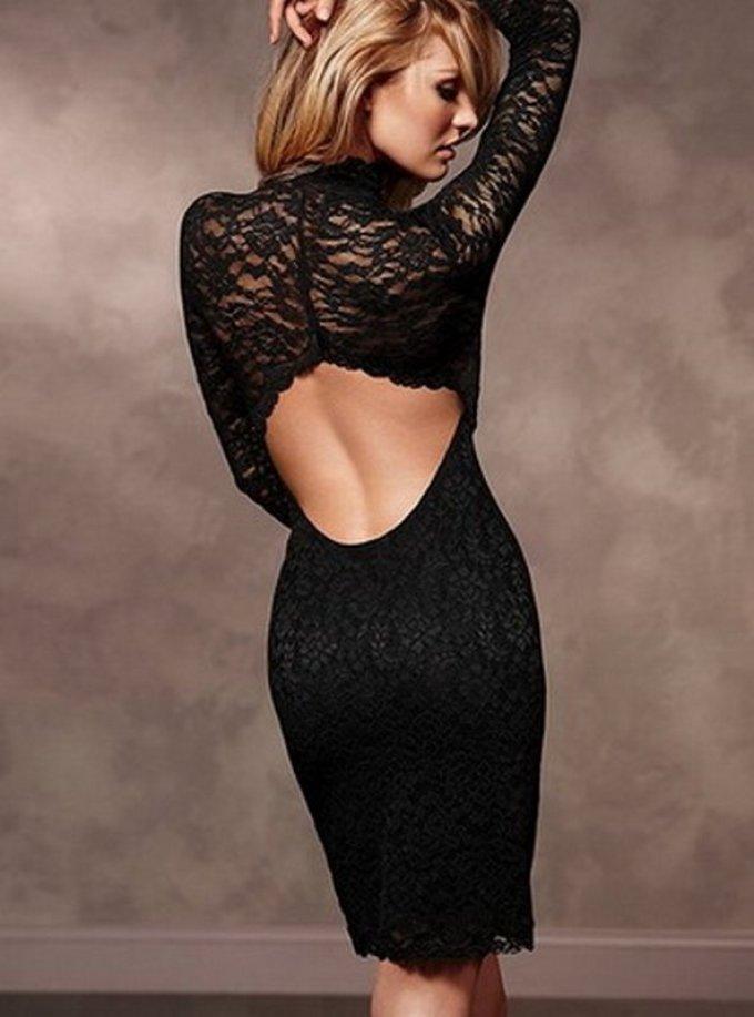 Черное обтягивающее платье картинки