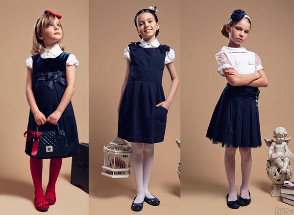 Школьная форма тёмно синего цвета для девочек фото
