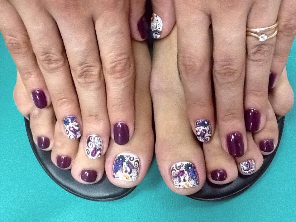 Дизайн ногтей руки+ноги