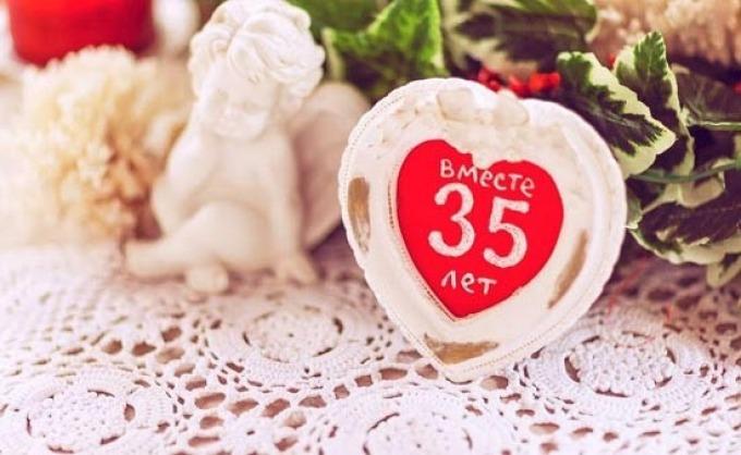Что дарят на 35 лет свадьбы