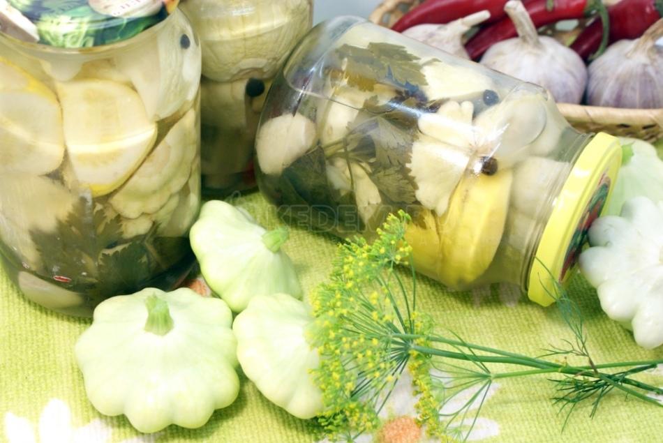 заготовка патиссоны на зиму рецепты