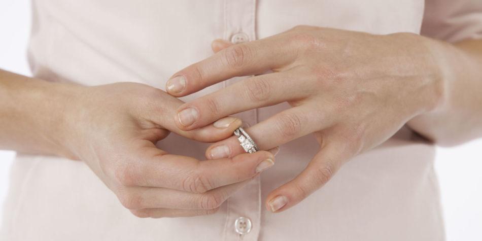 На каком пальце носят разведенные обручальное кольцо