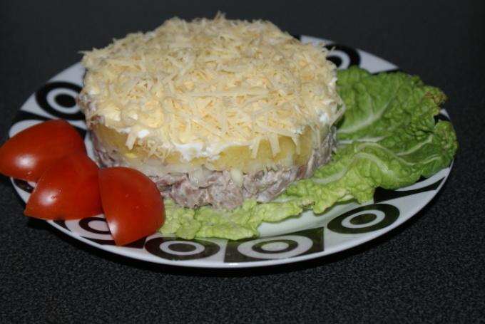 Салат мужские грезы с ананасами пошаговый рецепт с