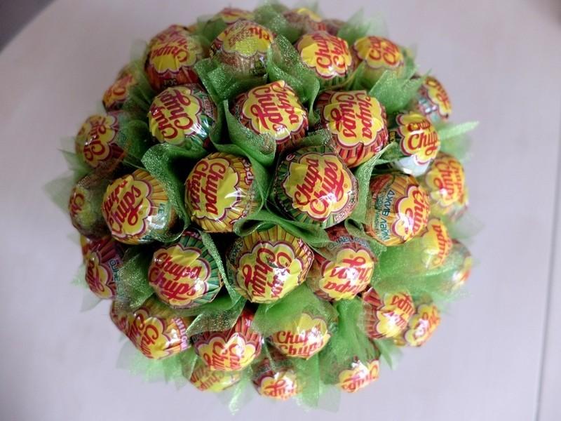 Кактус из конфет своими руками пошаговое фото 5359