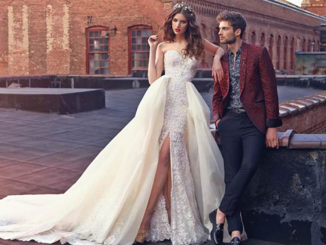 Необычные свадебные платья 2017
